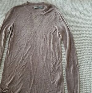 Thin brown soft Asos long sleeve high crew neck